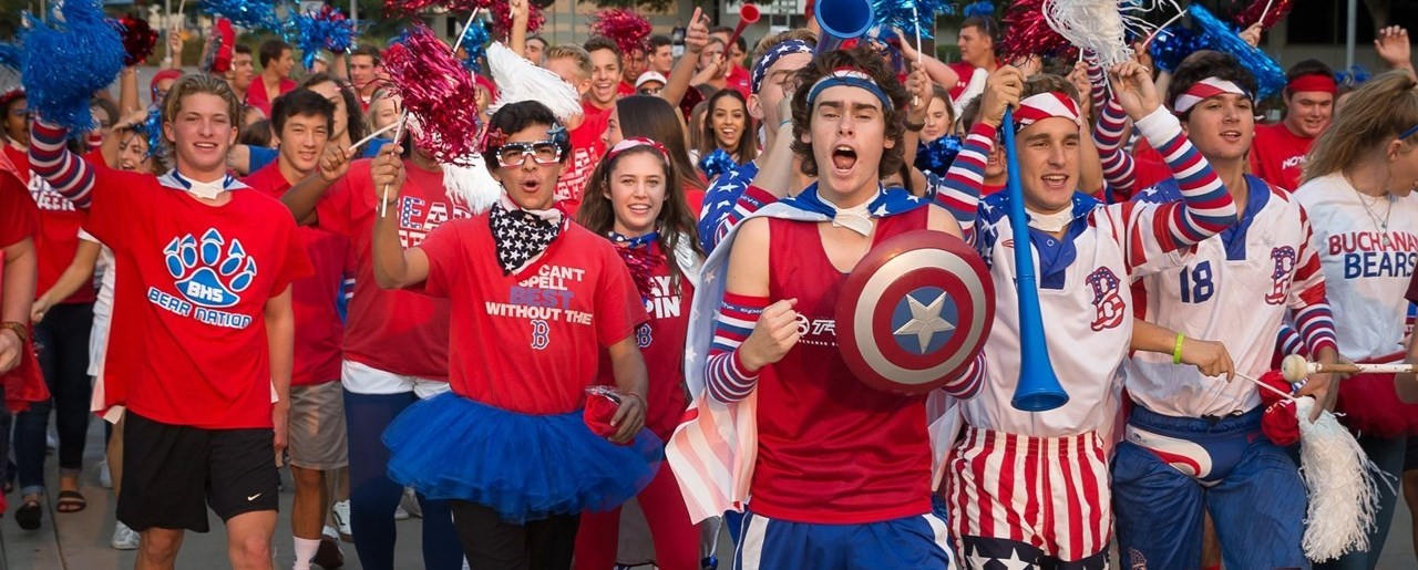 Buchanan students celebrating