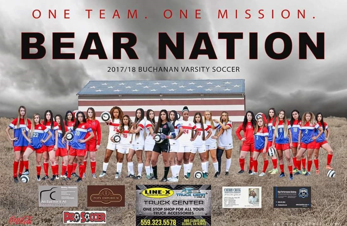Girls Soccer Team Poster 2018
